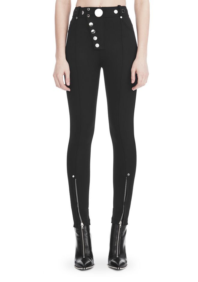 2055d88c6a70f9 ALEXANDER WANG HIGH-WAISTED LEGGINGS WITH MULTI-SNAP DETAIL PANTS Adult  12_n_d