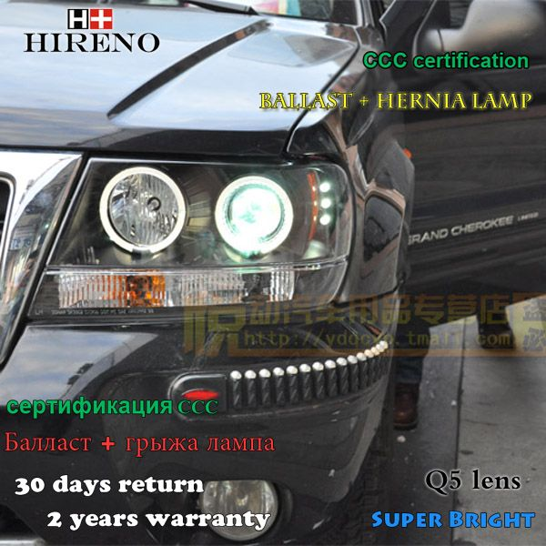 Hireno Headlamp For 1999 2004 Jeep Grand Cherokee Headlight