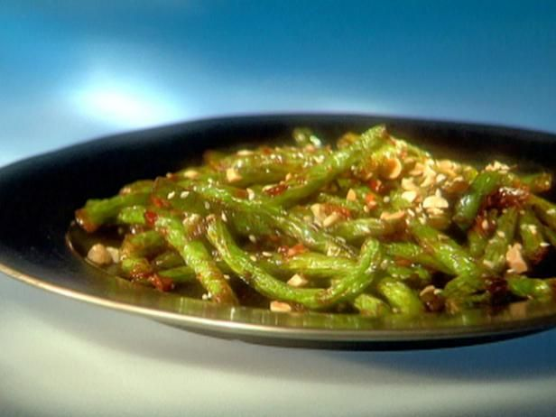 GREEN BEANS! Szechuan green beans. Lindsey Wicks is awesome- for all you non-description-changing pinning addicts. Guy Fieri's Top Recipes : Food Network