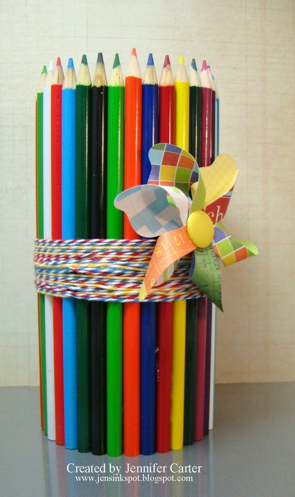 Colored pencil holder | Crafts | Pinterest | Pencil holder ...