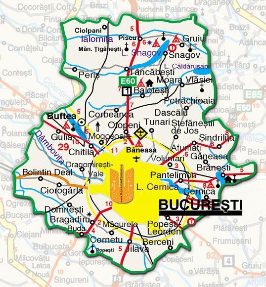 Harta Bucuresti Hartă București Romani