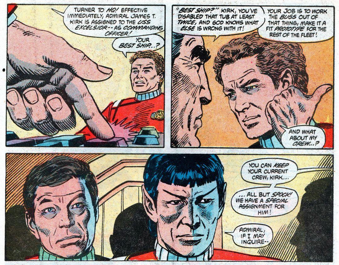 Image result for Captain kirk excelsior dc comics
