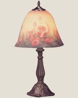Pin By Karen Brogan On Lighting For The Home Painting Lamps Shade Roses Paint Shades