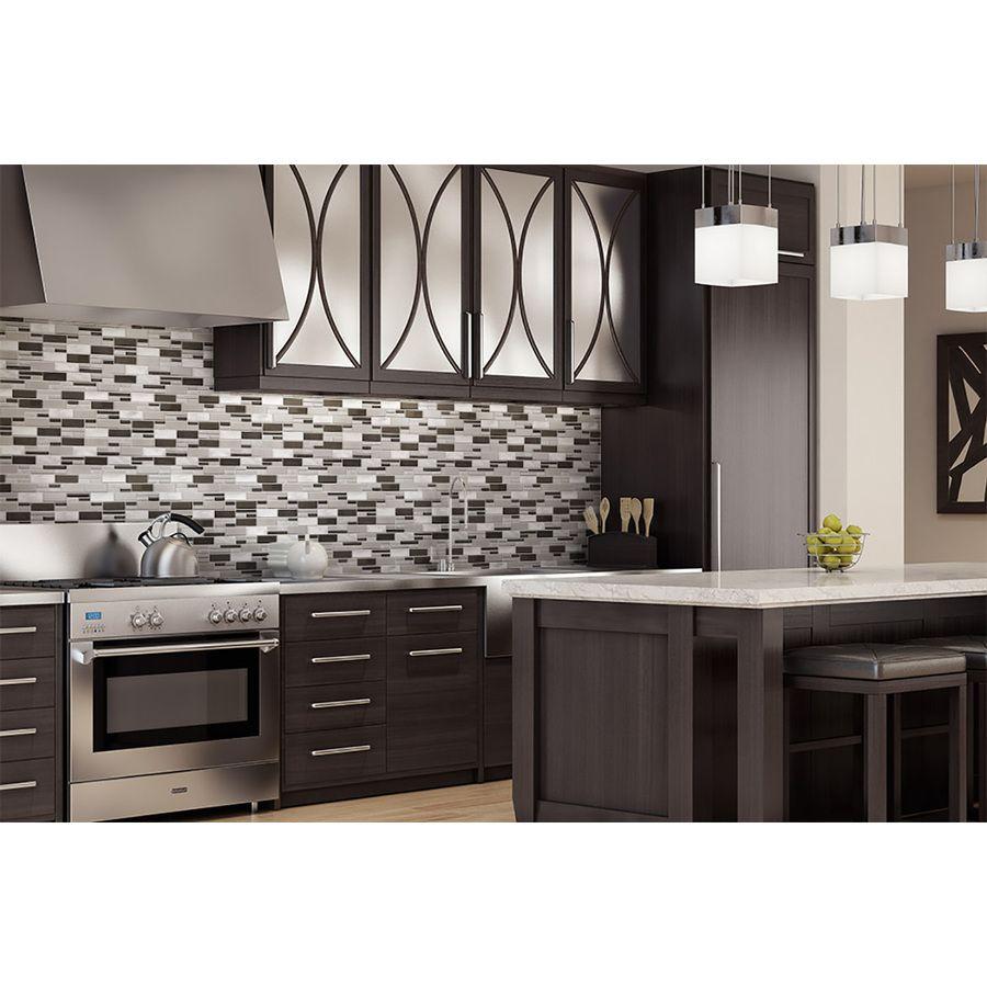 aluminum glass tile backsplash carbon blend kitchen backsplash