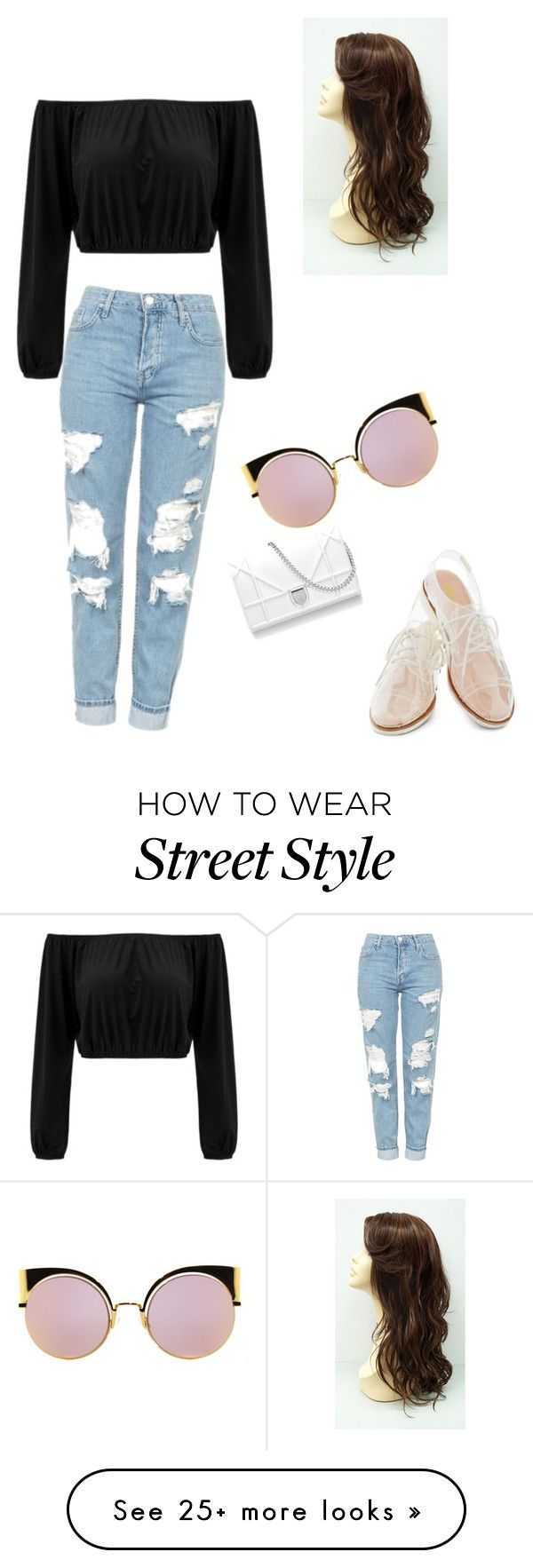 """Street Style"" by ashleyloch4 on Polyvore featuring Topshop, Rachel Antonoff and Fendi"
