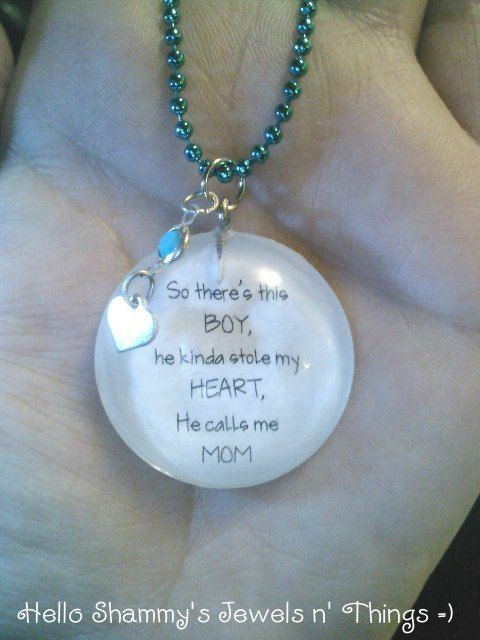 Love For Son Quote Necklace So Theres This Boy He Kinda Stole My Heart