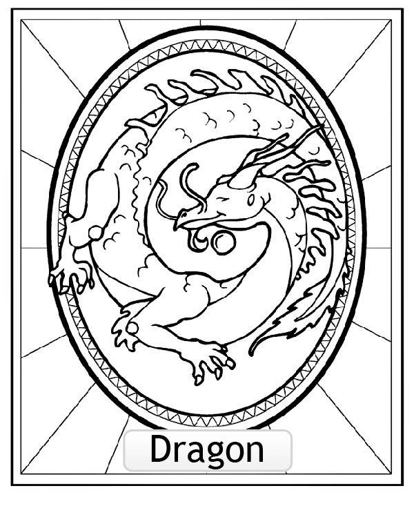 Dessin De Signe Chinois coloriage signe astrologie chinois du dragon, a partir de la galerie