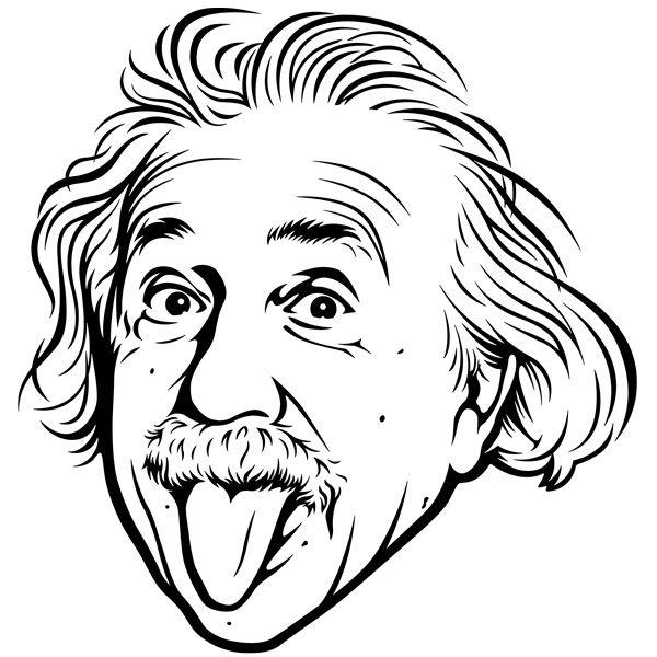 Albert Einstein Vinilos Decorativos Albert Einstein Dibujo Arte De Silueta Arte Del Bosquejo