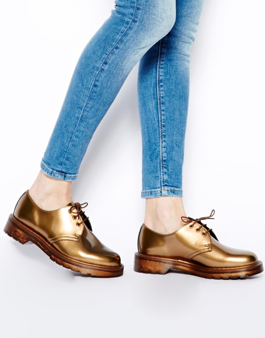 fabf6f02f0 Dr Martens   Dr Martens Core 1461 Patent Copper 3-Eye Shoes at ASOS ...