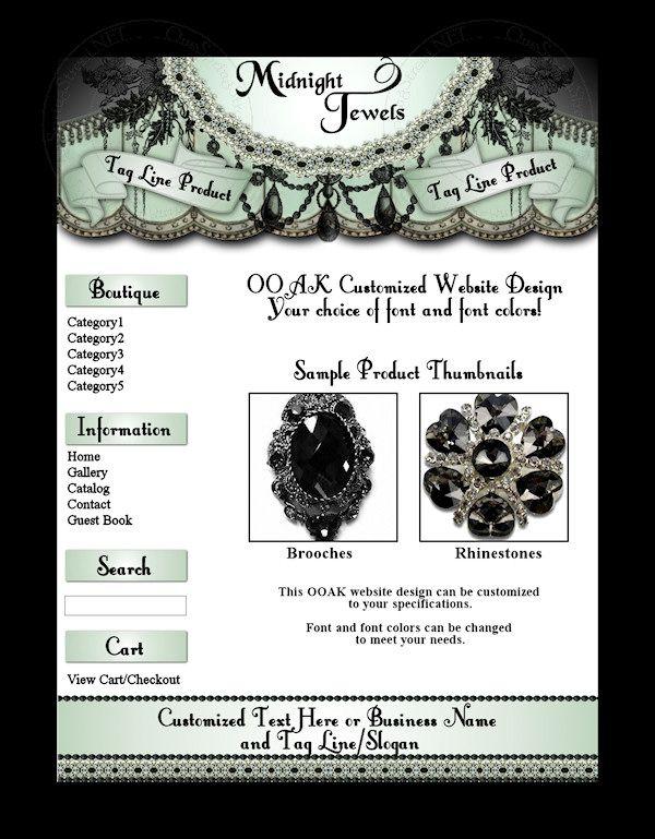 8306 Midnight Jewels Logo Pinterest Custom web design