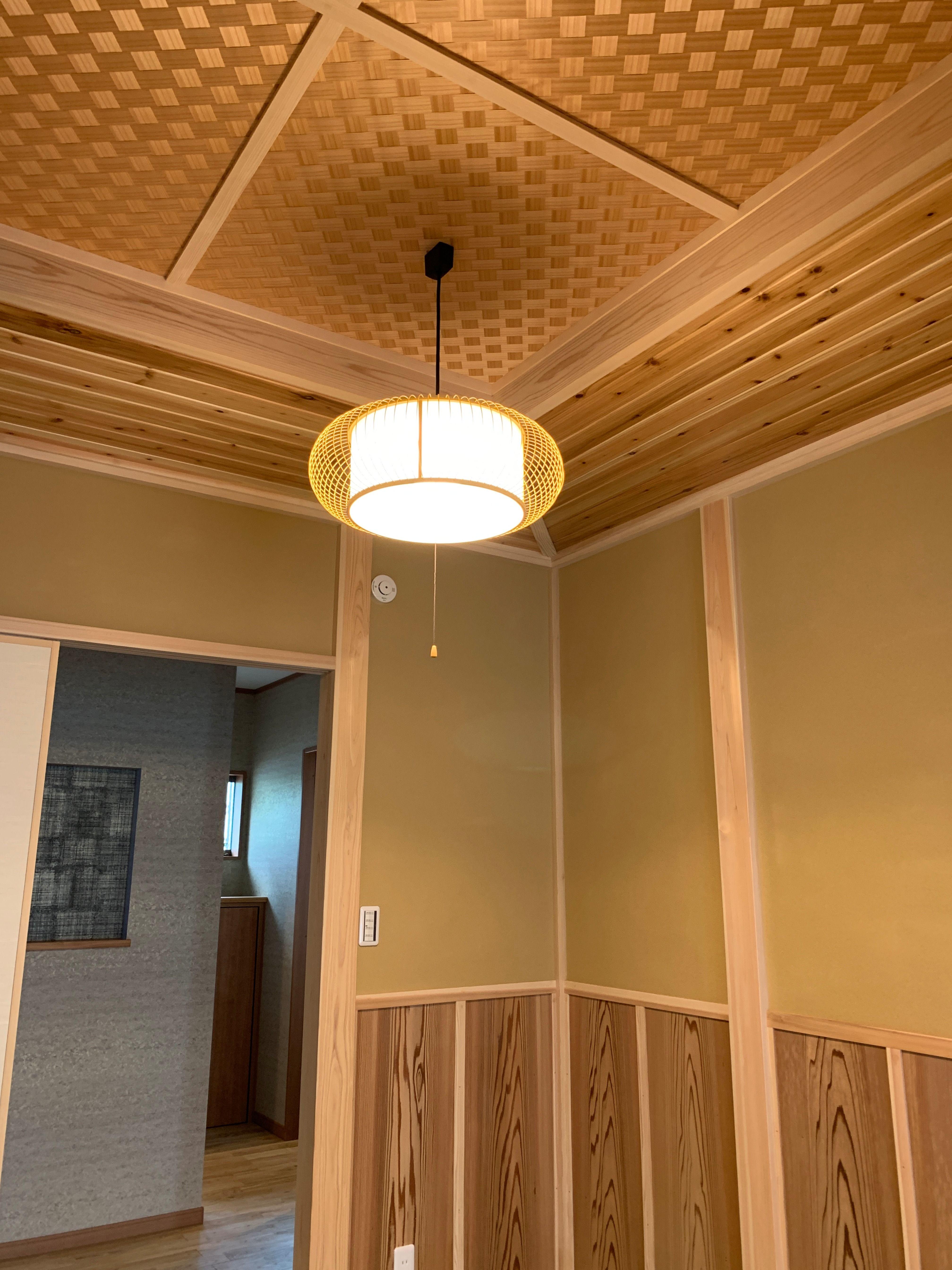 網代天井 あじろてんじょう 和室 収納棚 和室 天井 棲家