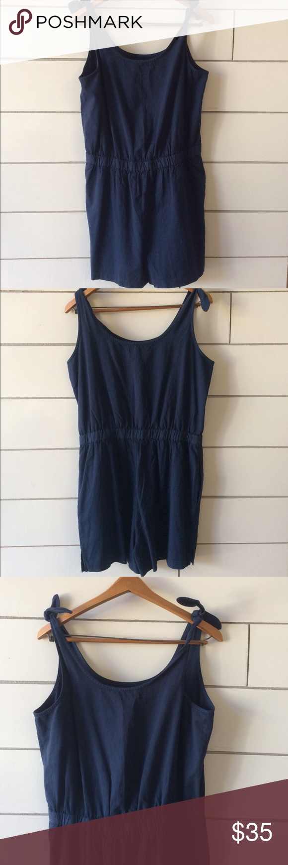 Madewell Tie Strap Romper New with tags, never been worn. Size M. Comes from a smoke free home. Thanks! Madewell Other