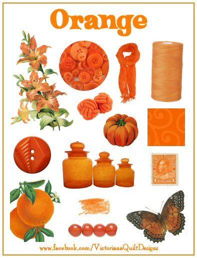 Colour Inspiration ~> Day #3: Orange #quilting #orange
