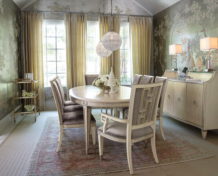 Love the crystal lantern! And the charming wall paper ) dining