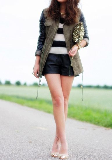 Color contrast coat. Look book style