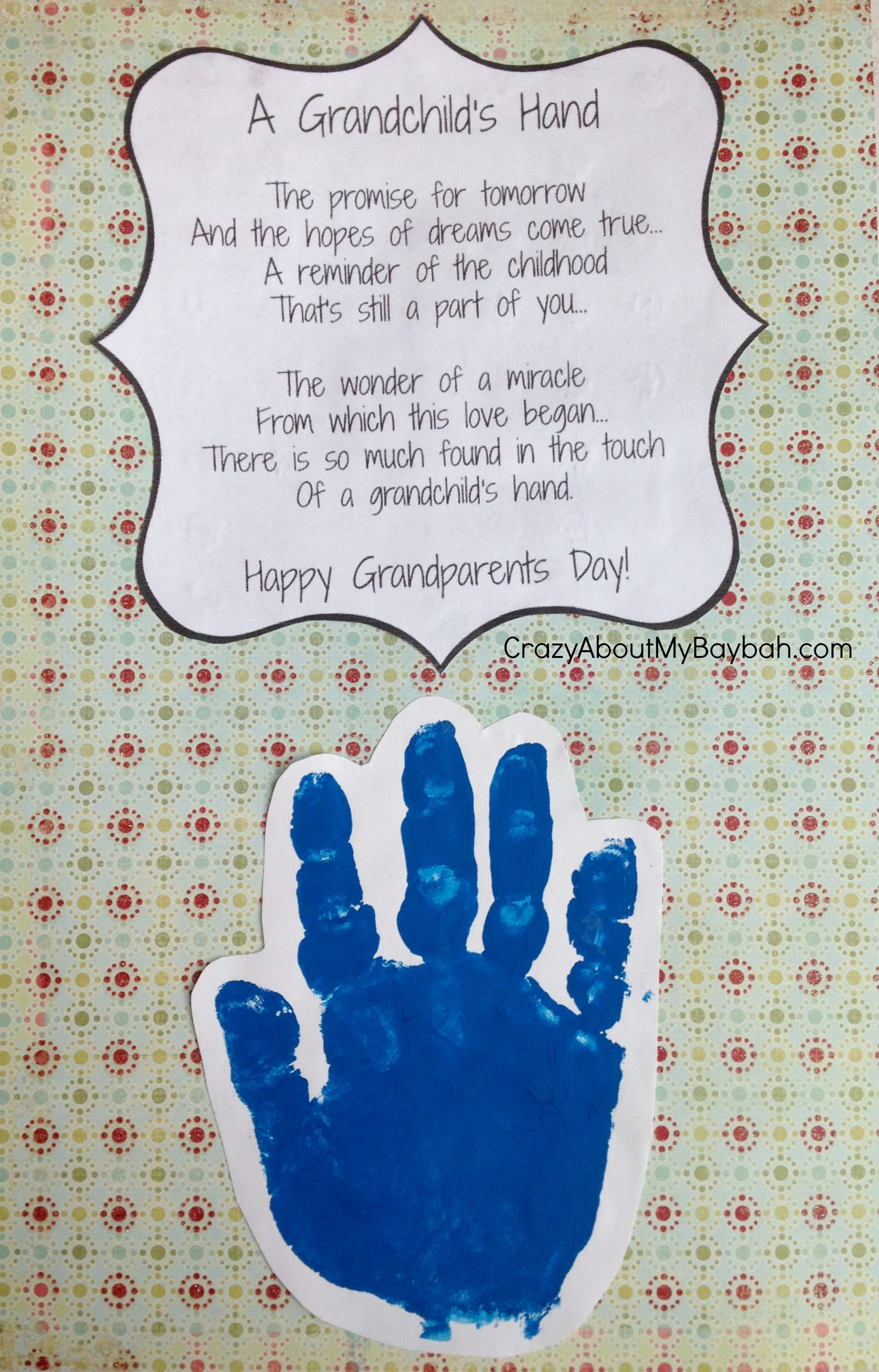 Easy Grandparents Day Crafts For Kids