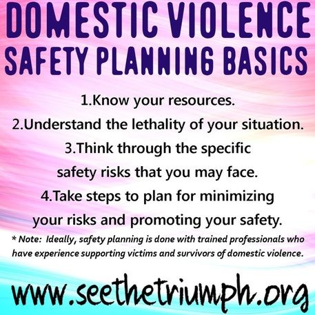 Domestic Violence Safety Planning Basics Seethetriumph  Domestic