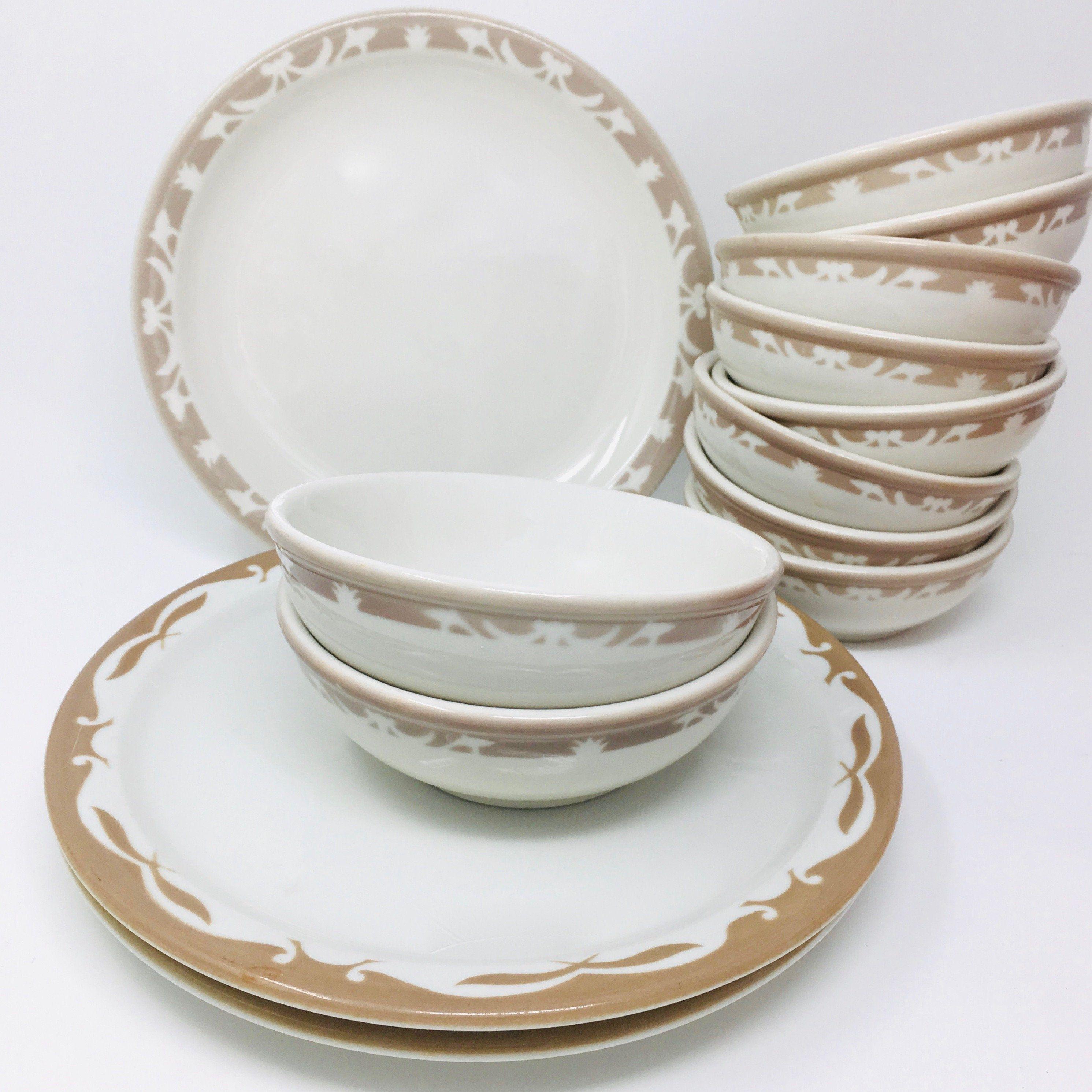 Syracuse China, Nutmeg, Set Of Four Bowls, Cereal Or Ice