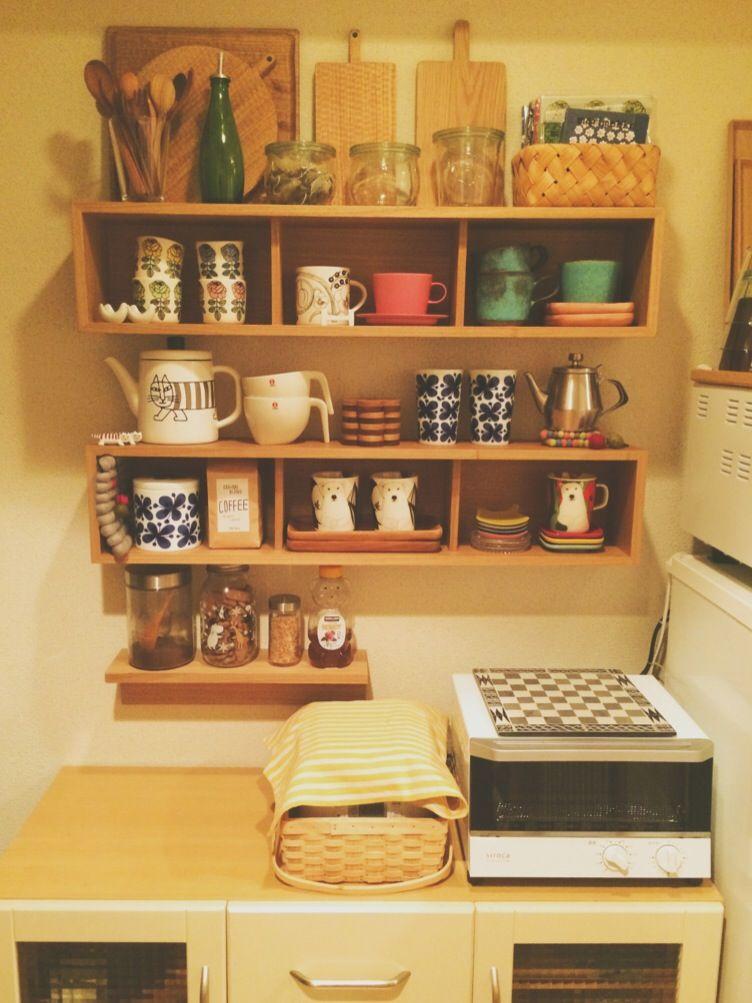 無印用品 キッチン収納棚の見直し kiki 楽天ブログ キッチン 片付け キッチン 和のインテリア