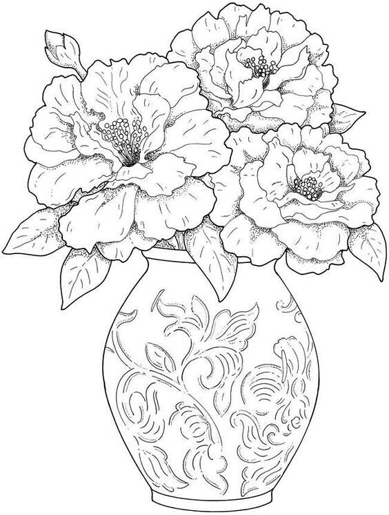 Modele Fleur Coloriage.Pin Av Eva Johansen Pa Color Pinterest Coloriage Coloriage
