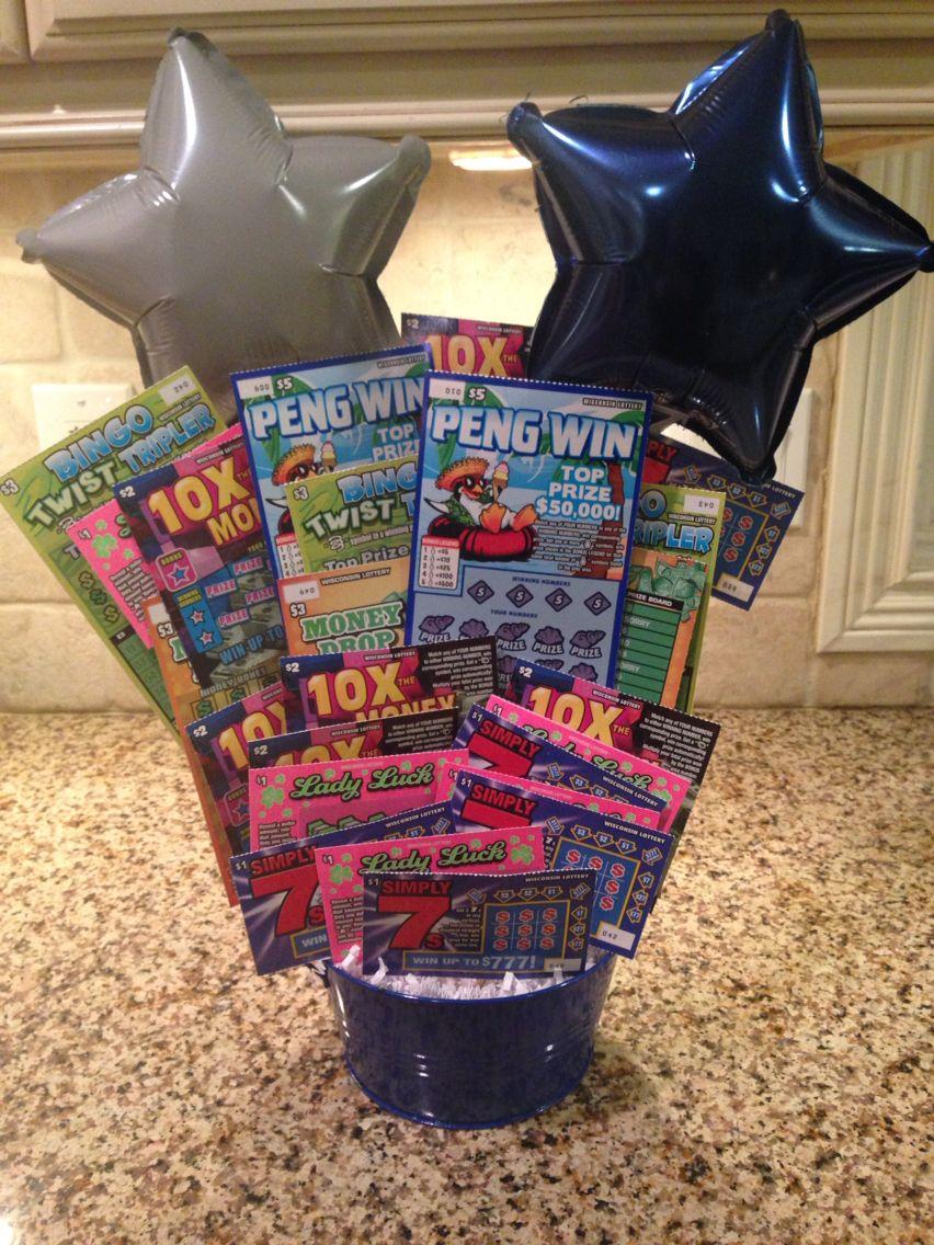 Basket Idea: scratch off lottery tickets   Morale Gift   Pinterest ...
