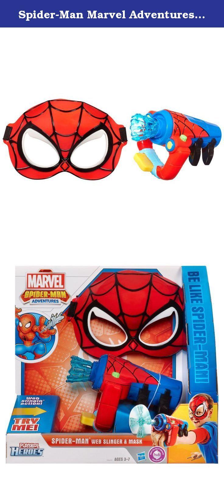Spider-Man Marvel Adventures Playskool Heroes Web-Slinger and Mask Set. Spider-Man Marvel Adventures Playskool Heroes Web-Slinger and Mask Set.