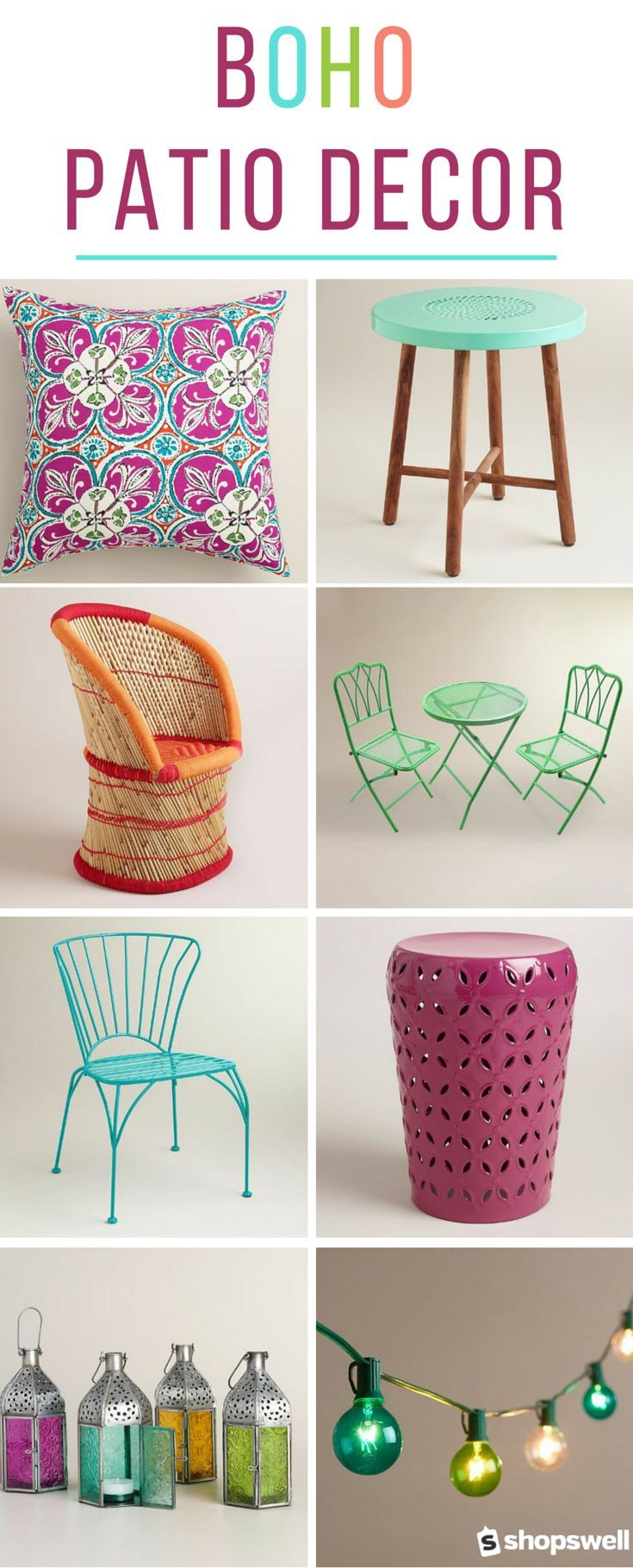 Decor: A Colorful Bohemian Patio for Less | Warm color palettes ...