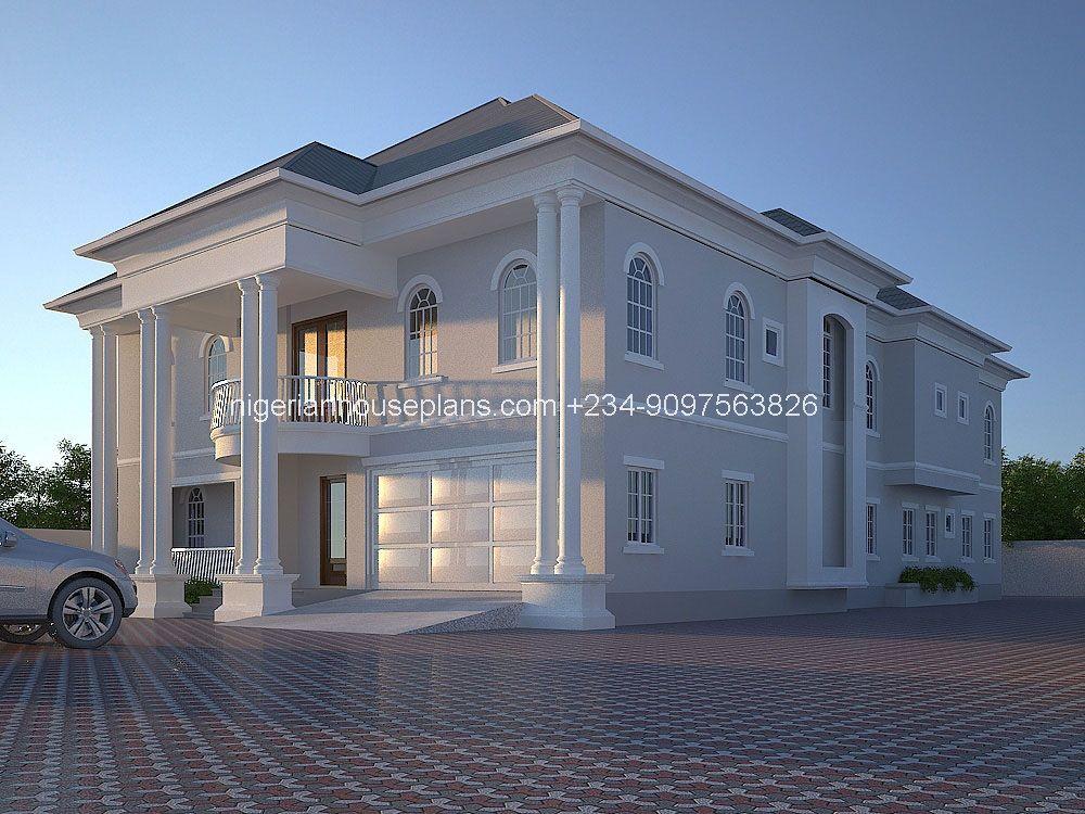 6 Bedroom Duplex Designed By Nigerian House Plans