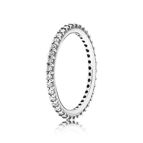 pandora anello eternity con zirconia cubica