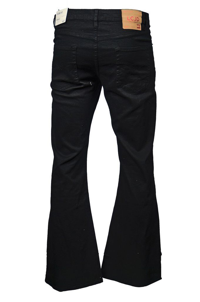 Men S Flare Jeans Black Stretch Indie 70s Bell Bottoms Lc16 Lcj Denim Mens Bell Bottom Jeans Retro Jeans Super Flare Jeans