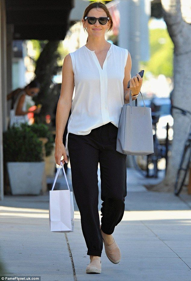126795ffc8 Step out in chic and simple espadrilles like Jennifer in Chloe. Click   Visit  to buy now.  DailyMail