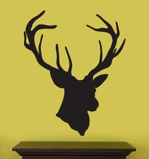 Vinyl Wall Decal Sticker Hanging Deer Head by Stickerbrand on Etsy ...