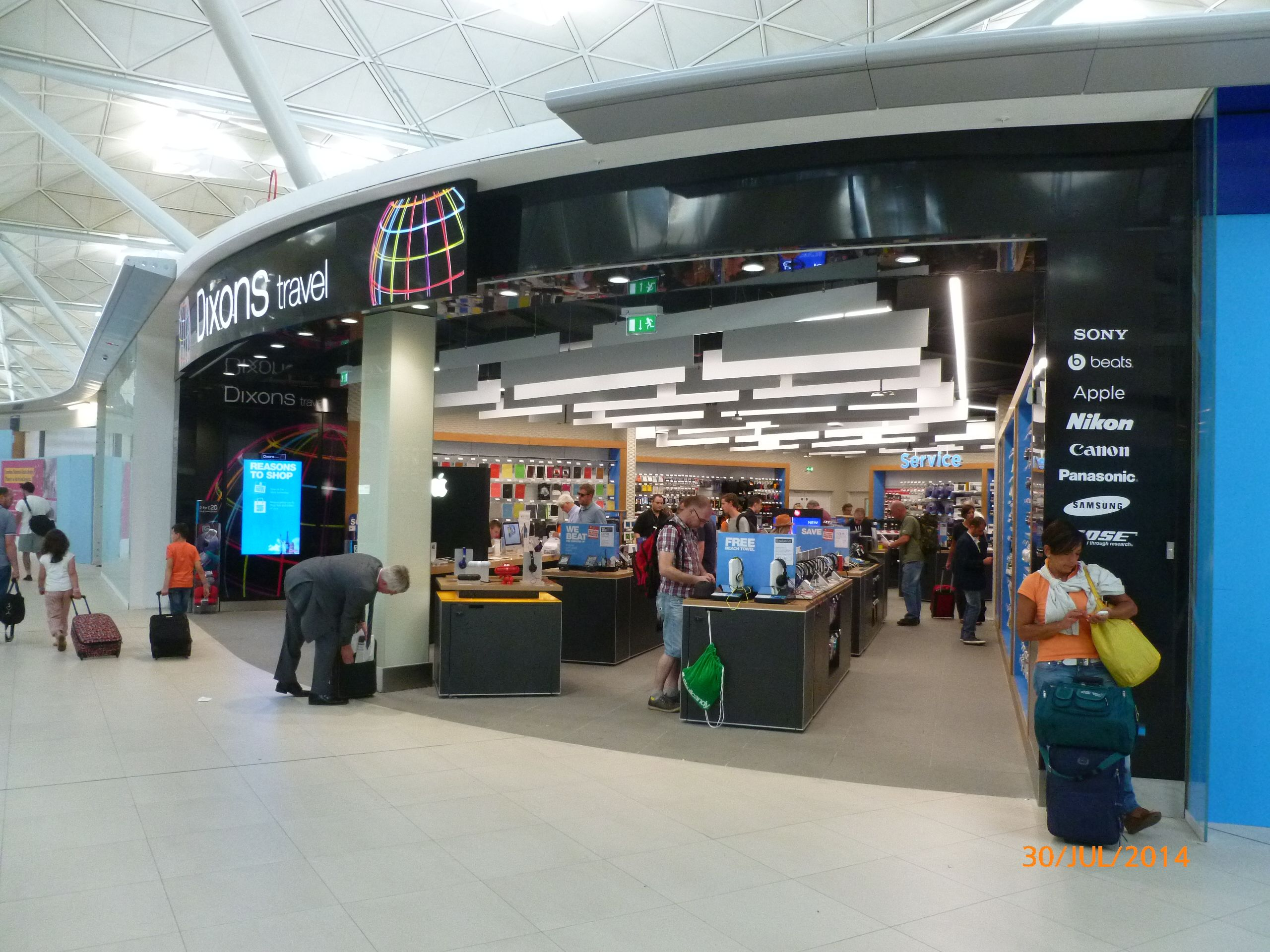 Our lovely new Dixons Travel store at Stansted airport