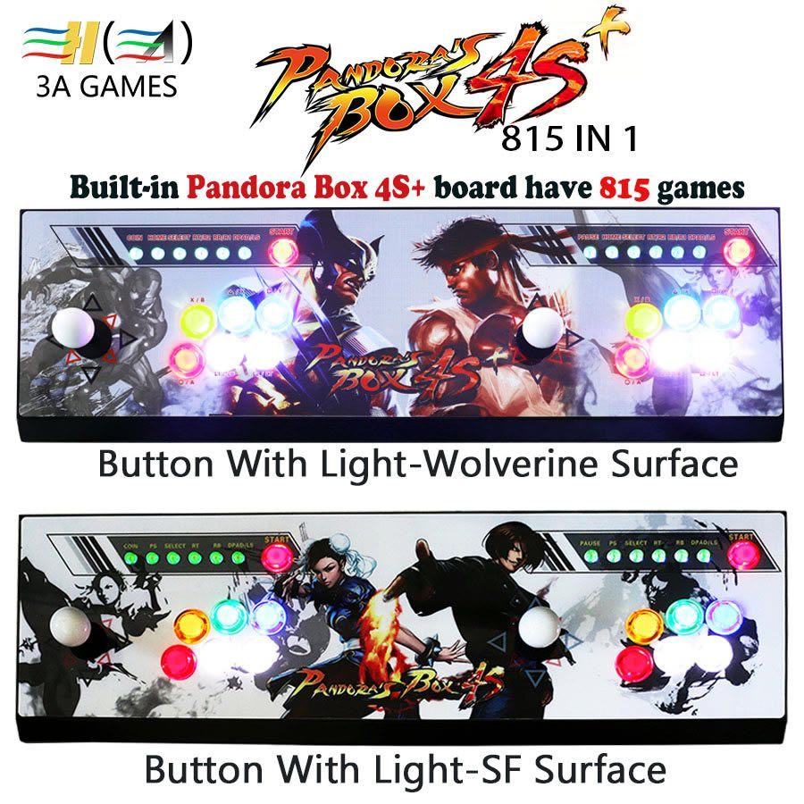 Pandora's box 4s plus 815 in 1 game arcade console usb joystick