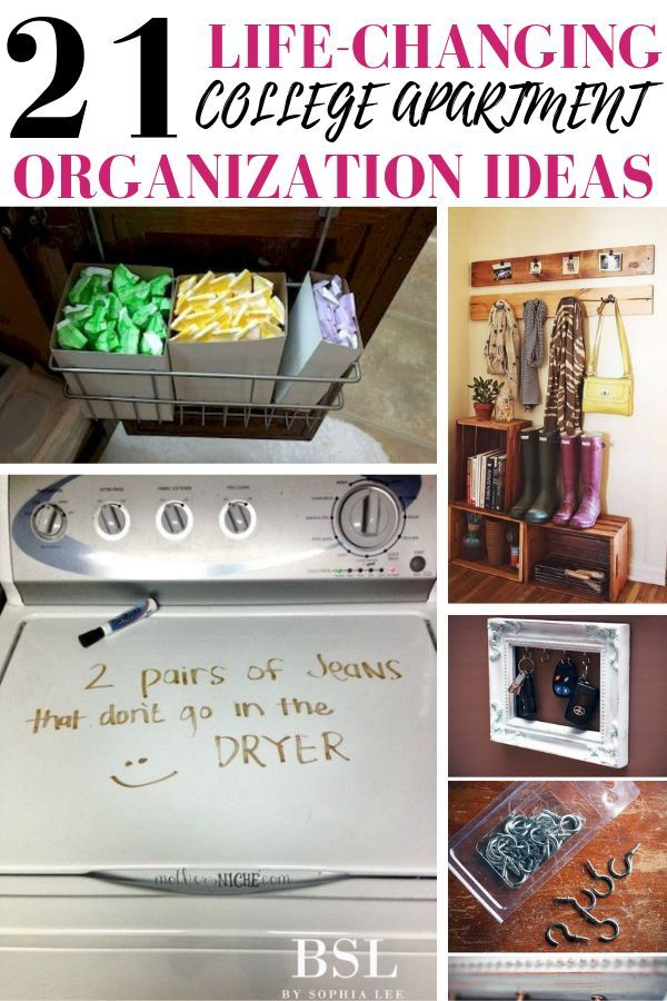 21 Best College Apartment Organization Ideas That'll Change Your Life - By Sophia Lee
