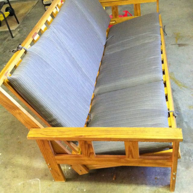 Converted A Futon Into An Outdoor Sofa Lounge Diy Futon Outdoor Futon White Futon