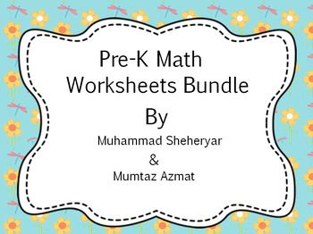 Math Bundle For Pre K Worksheets Common Core States Standard