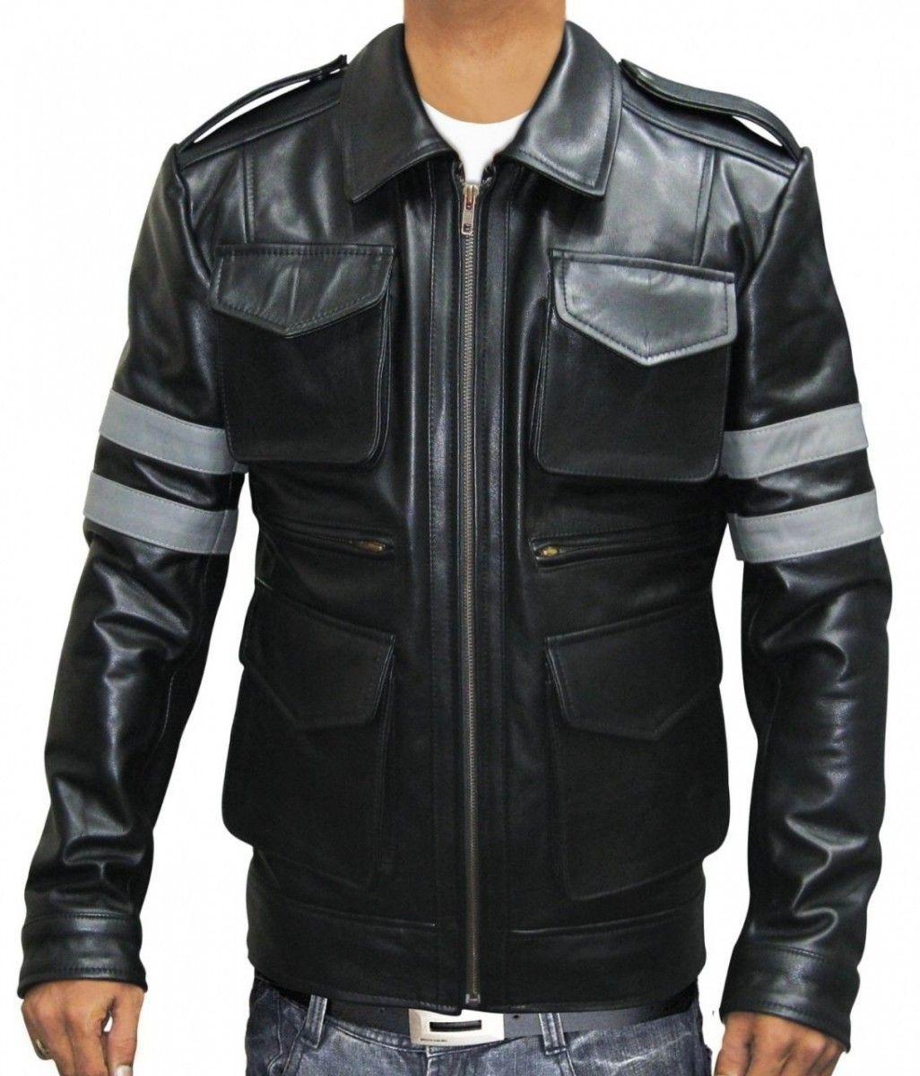 Resident Evil 6 Leon Kennedy Jacket On Bonanza For 189 Celebrities Leather Jacket Resident Evil Jacket Celebrity Jackets [ 1200 x 1026 Pixel ]