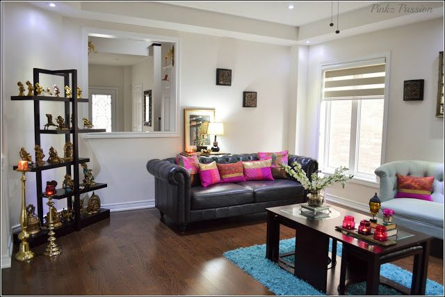 Pinkz passion my home pride tour of living room indian inspired also rangoli rh in pinterest