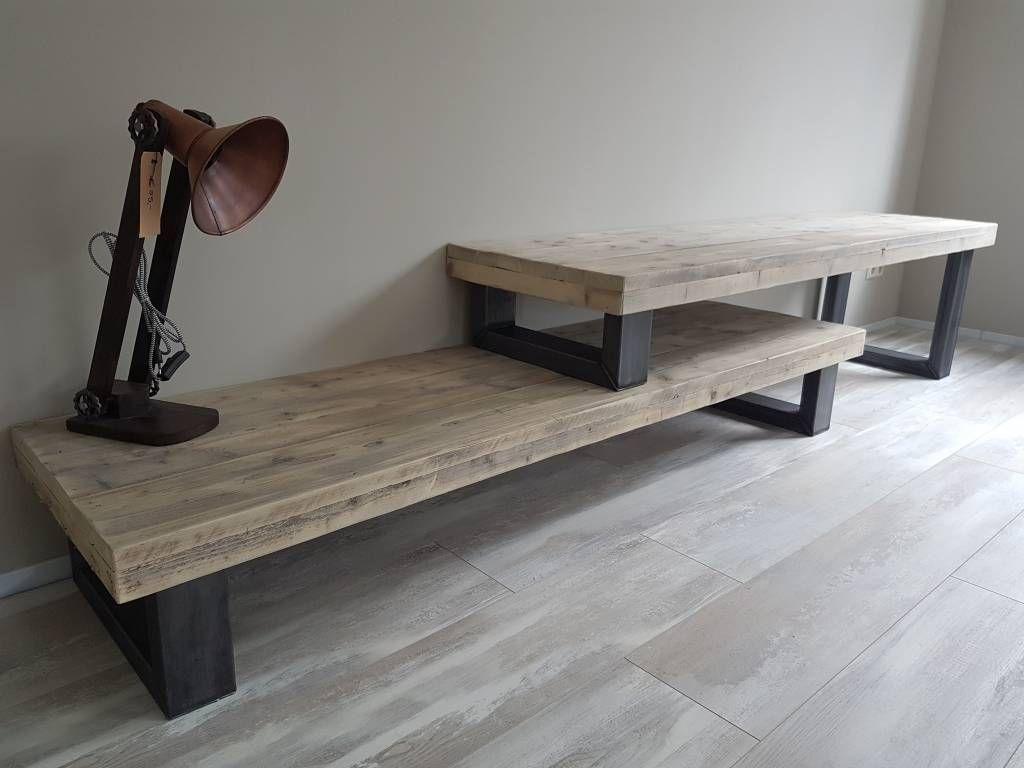 Stoer Tv Meubel Dat Past Bij Veel Van Onze Tafels Wood Stuff  # Meuble Tv Zorg