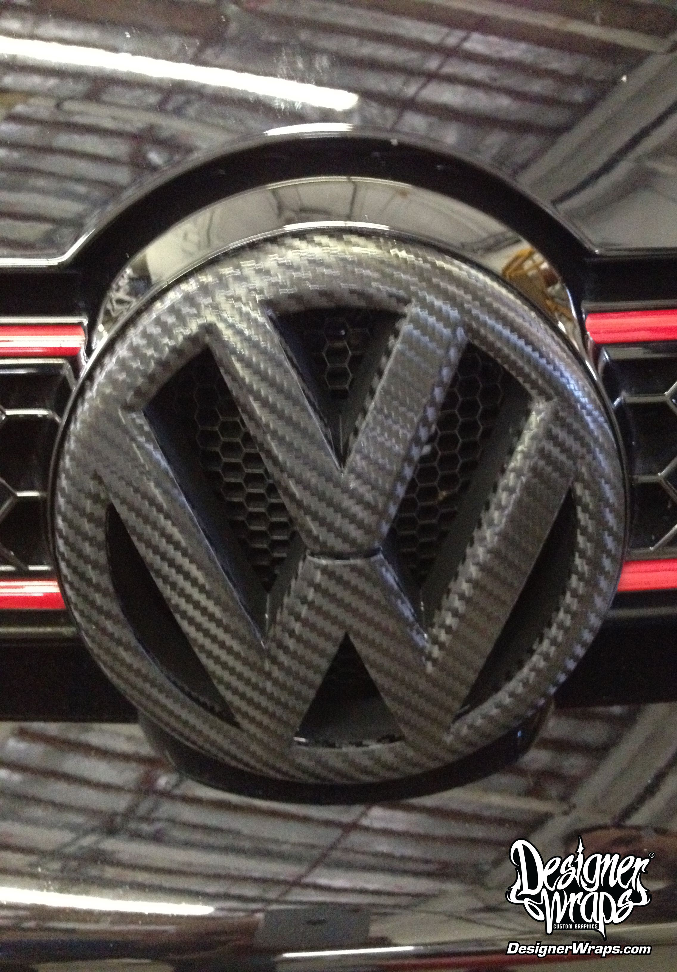 Vw Carbon Fiber Emblem Wrap Trim Wraps Car Wraps