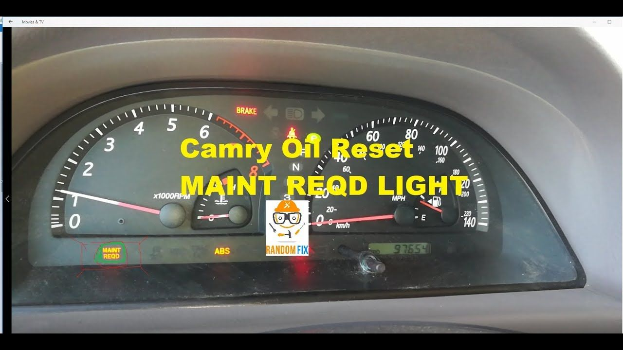 How to Reset 2001-2006 Toyota Camry Oil Reset Maintenance Light Reminder  https:/