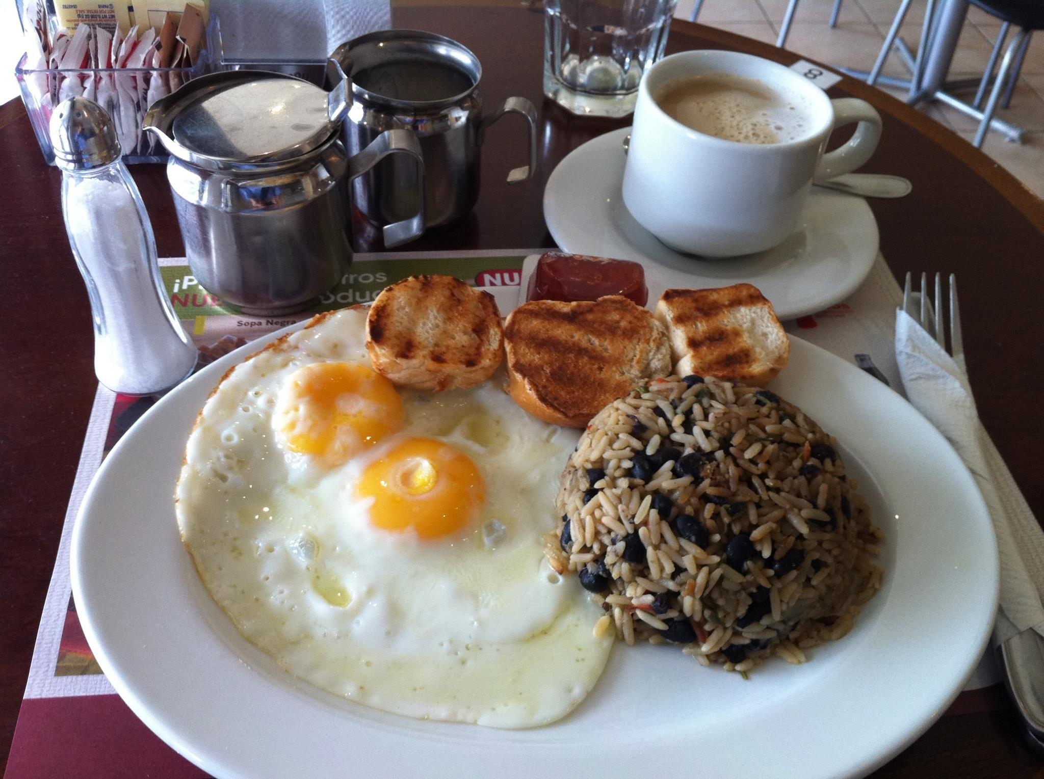 Desayuno típico de Costa Rica | Clase - la comida ... Desayuno Espanol Tipico