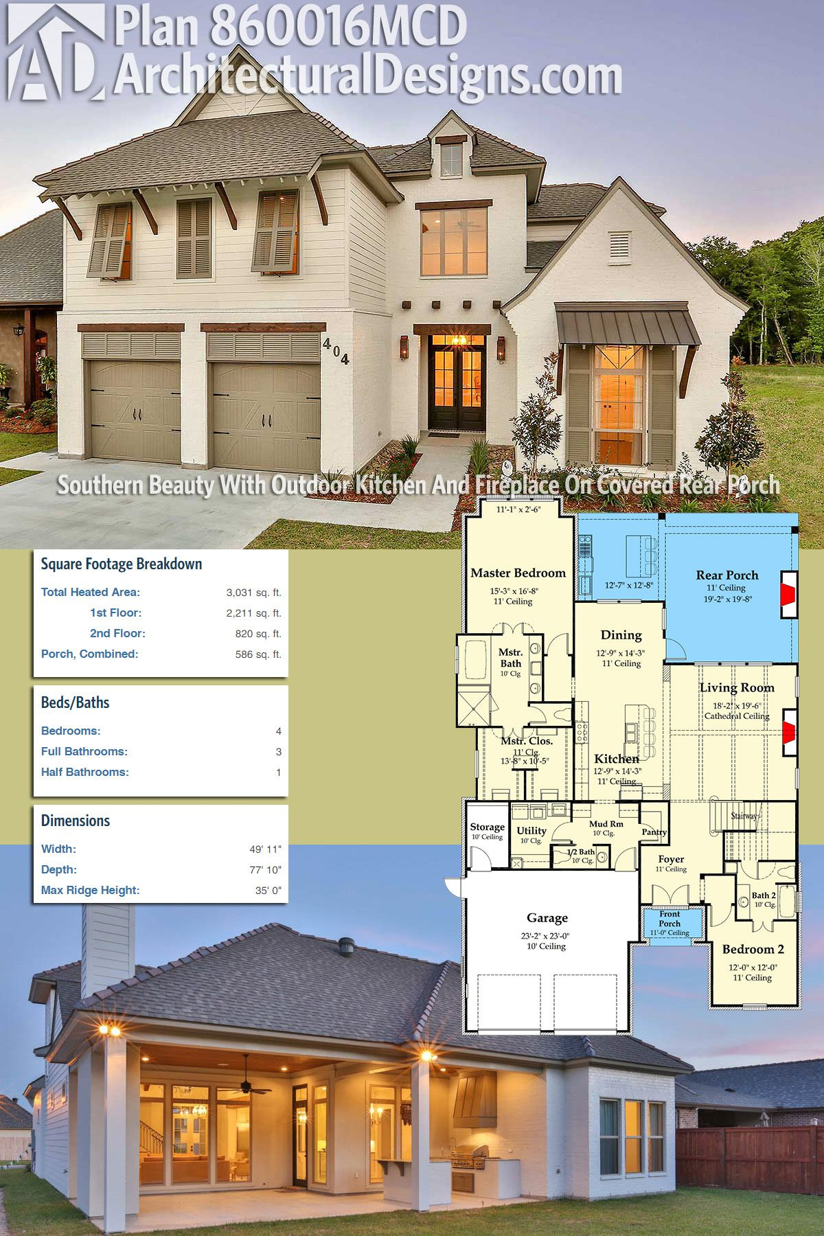 Architectural Designs House Plan 860016MCD gives you