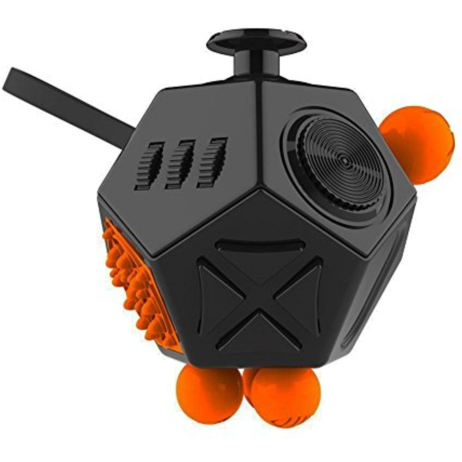 Fidget Cube 12 Side Black Orange Visit The Image Link More Details This Is An Affiliate Link Fidget Cube Fidget Cube 12 Sides Stress Cube