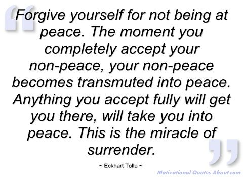 Image result for eckhart tolle peace acceptance quote pics