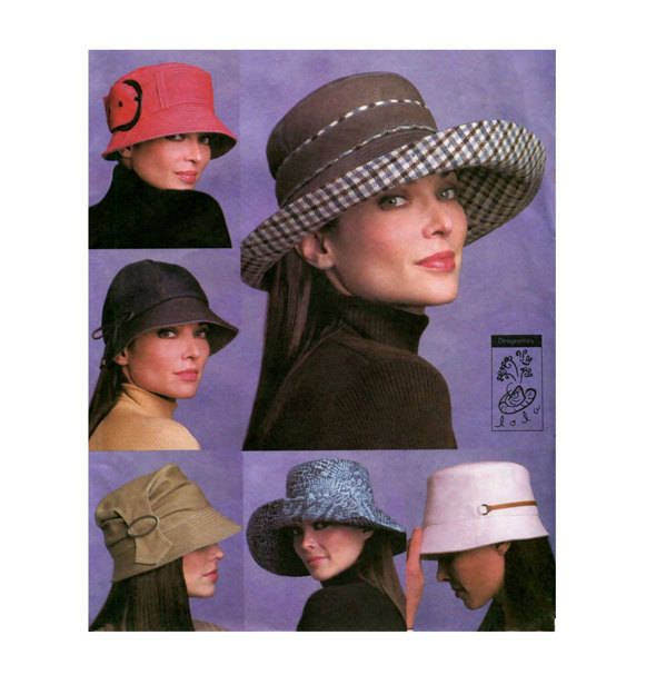 VOGUE HAT PATTERN Bucket Hat Patterns Wide Brim Hats Caps Vogue 7918 Lola  Designer Hats UNCuT Millinery Accessories Womens Sewing Patterns by ... ba9a924c52