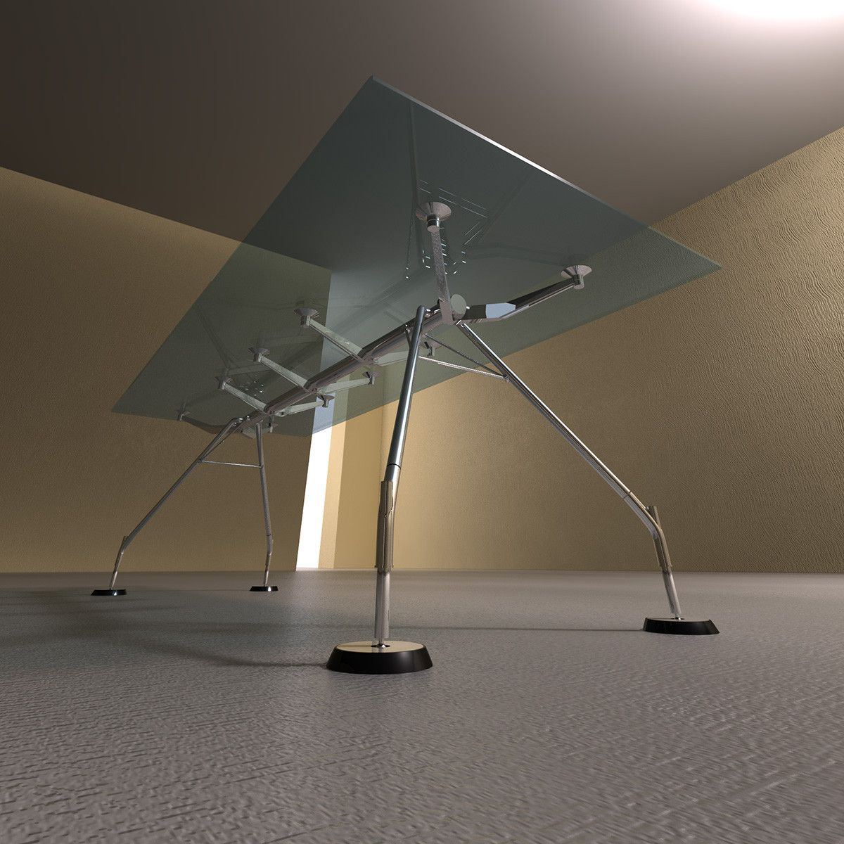 3ds Max Nomos Norman Foster Glass Table 3d Model 3d Modeling  # Muebles Norman Foster