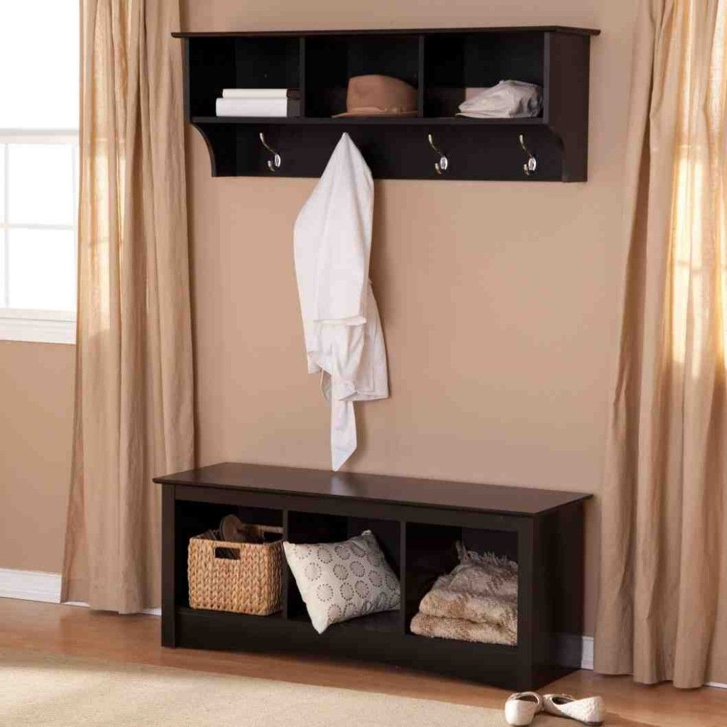Hall Tree Coat Rack Storage Bench