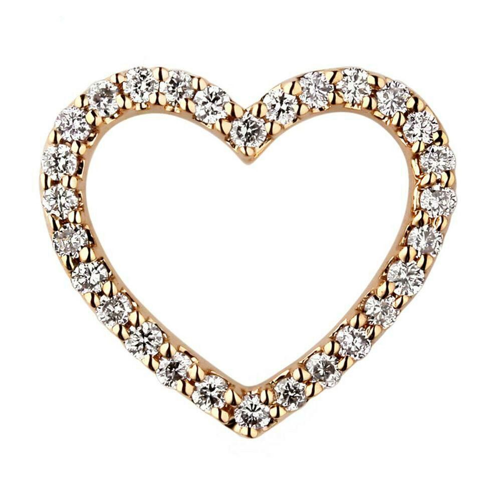14K White Gold Finish 2Ct Round Cut VVS1 Diamond Cluster Heart Pendant Necklace